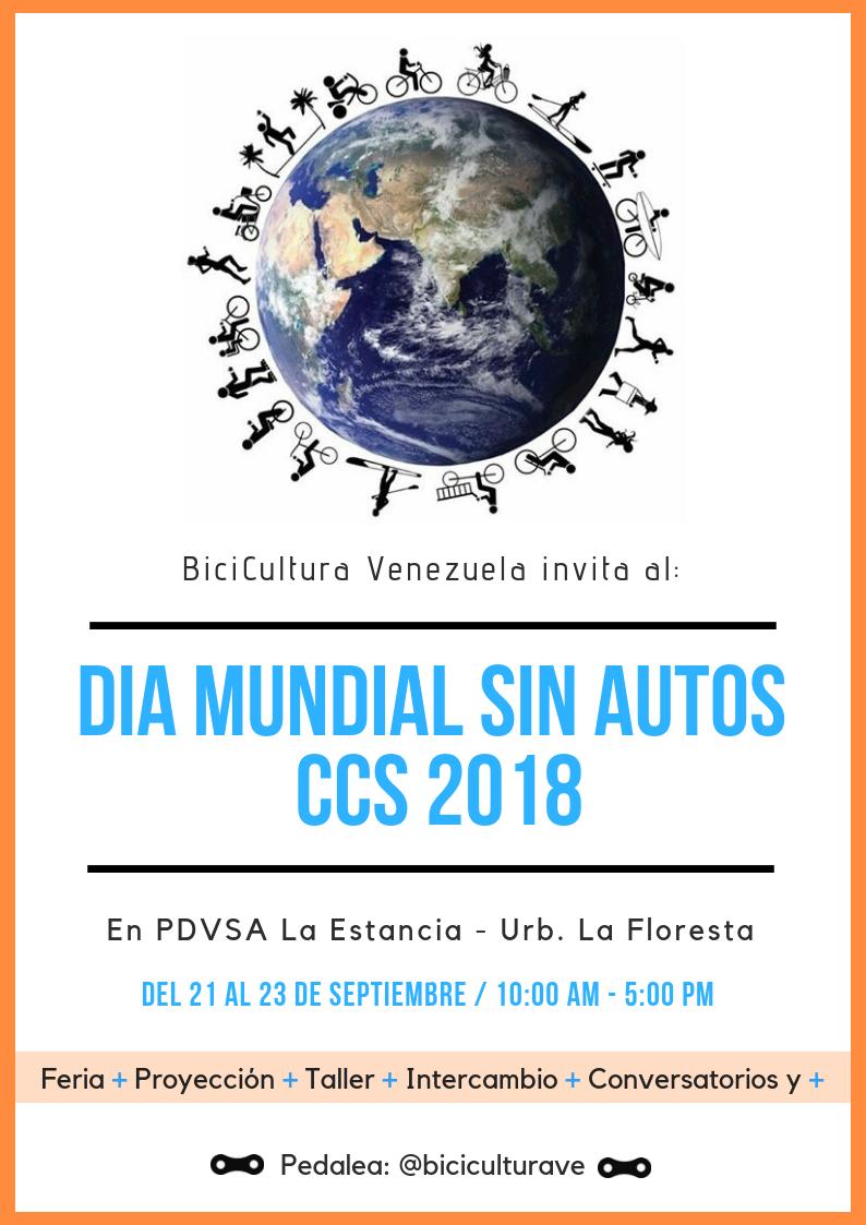 22 De Septiembre – Día Mundial Sin Autos CCS 2018 / Comisión Europea