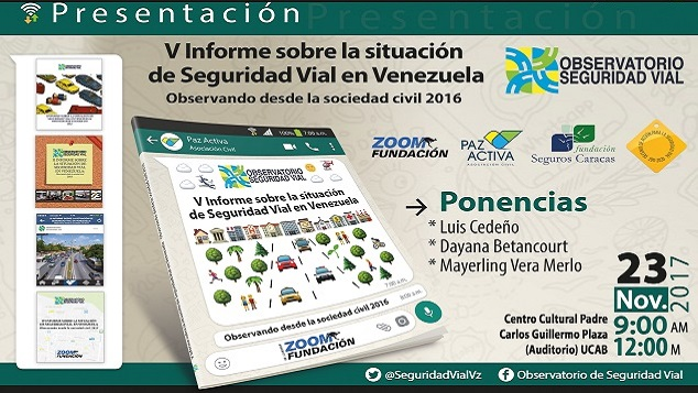 Presentación Del V Informe Sobre La Situación De Seguridad Vial En Venezuela